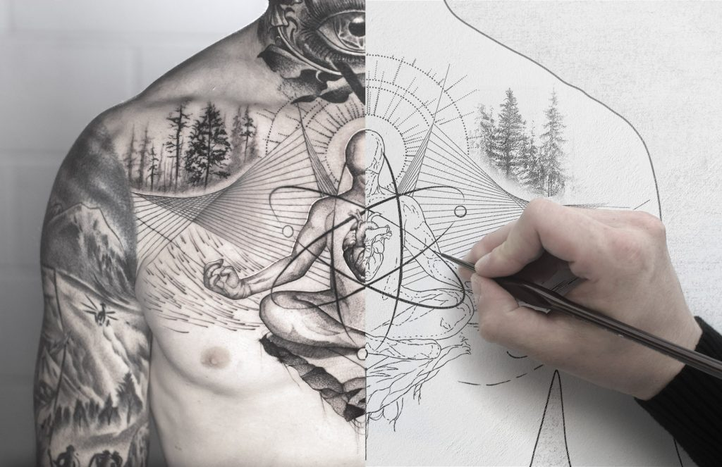 Daniel Meyer tattoo design process